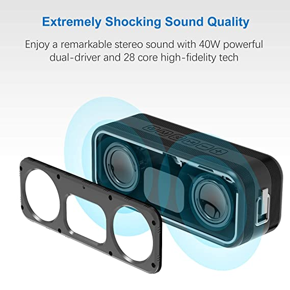 [Best Outdoor&Shower Bluetooth Speakers Ever] Omaker M4 Portable Bluetooth 4.0 Speakers with 12 Hour Playtime for Outdoors/Shower(Orange), [Importado de ...