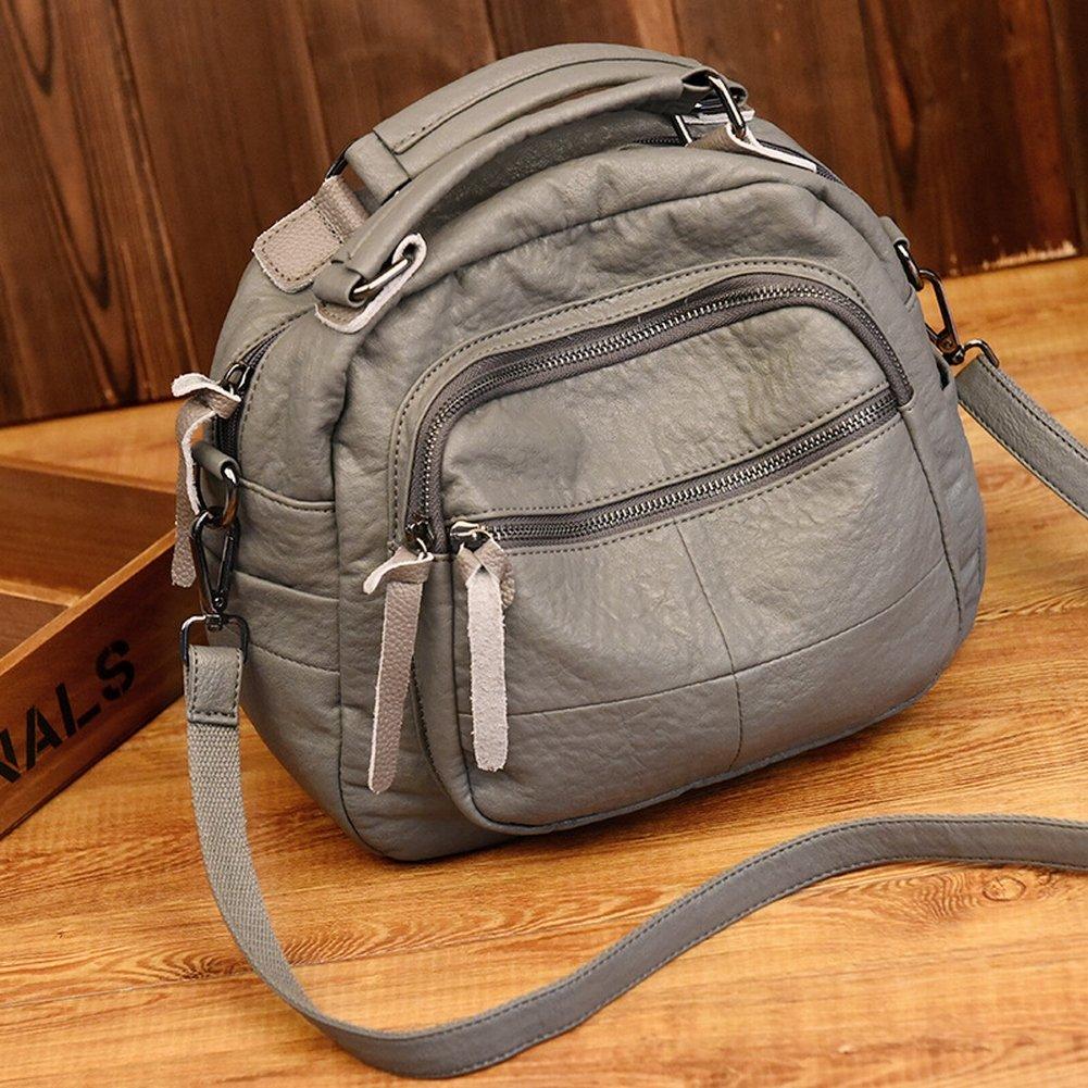 Version Des Trends Der Weichen Leder-Umhängetasche Große Handtasche Messenger Bag Weibliche Paket , hellgrau