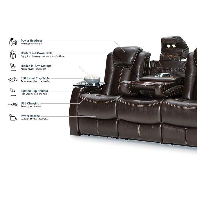 Seatcraft Republic - Sofá reclinable de Piel: Amazon.es ...