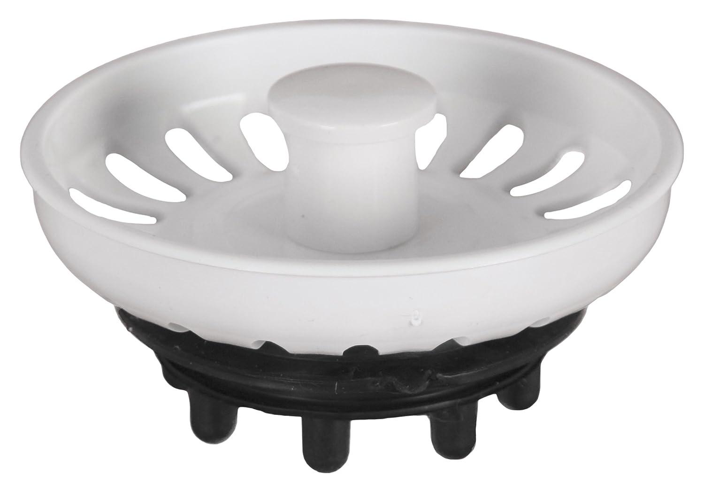 aqualy/®/ blanc /Bouchon pour /évier avec grille
