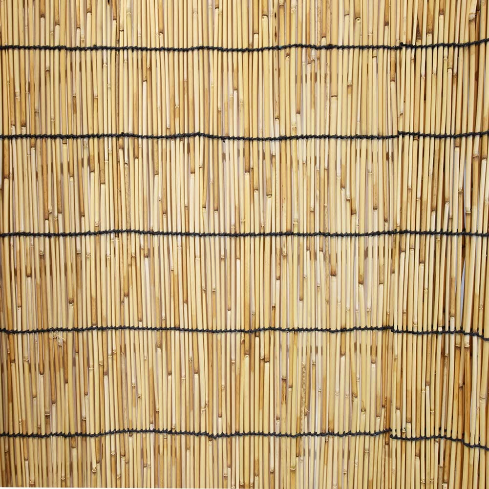 Mininfa Natural Reed Screen, Eco-Friendly Reed Fence, 4 feet High x 13 feet Long, Reed Fencing for Garden, Privacy