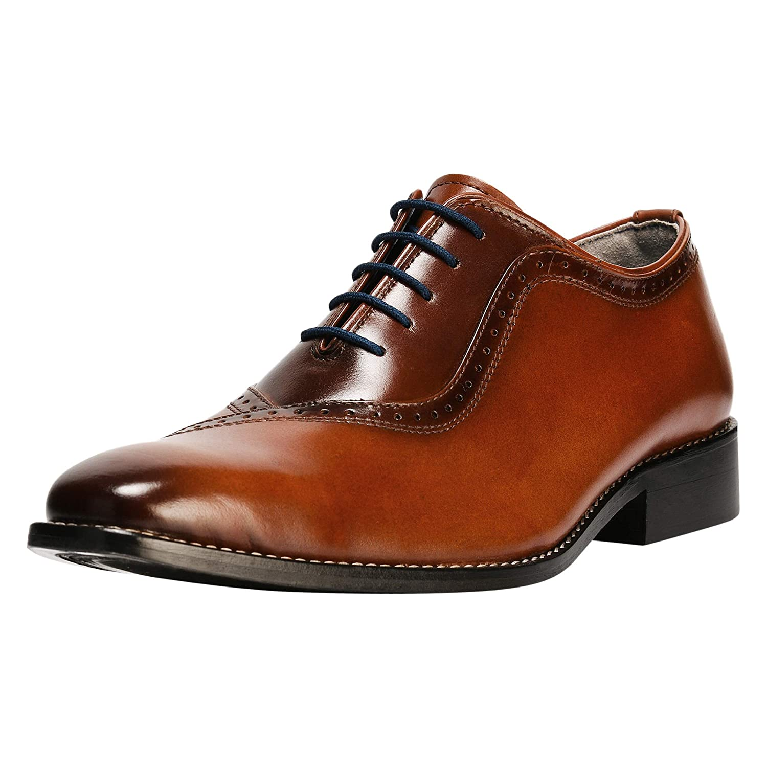 a41cd1ce6 Amazon.com | Liberty Men's Genuine Handmade Finest Leather with Burnished  Toe - Lace up Oxford Dress Shoes | Oxfords