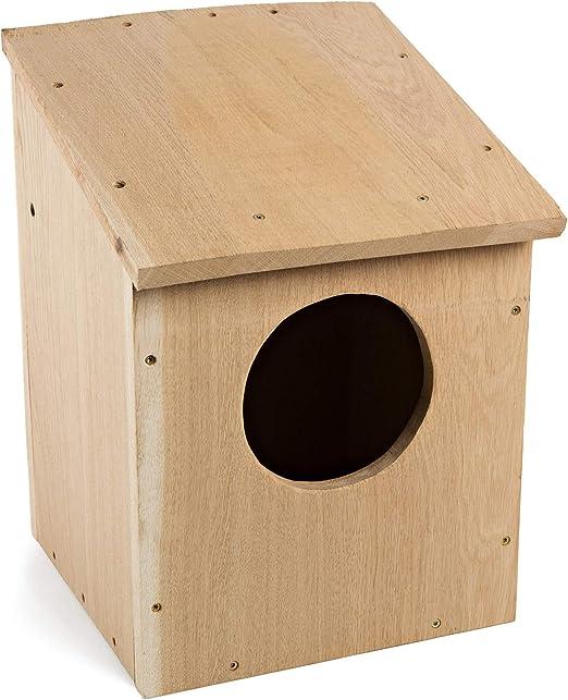 NEST TO NEST Casita De Pajaros Casa Búho | Caja Nido para Pájaros De Madera De Roble I Nidos para Pajaros: Amazon.es: Jardín