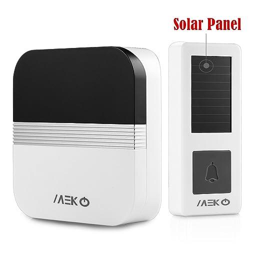 12 opinioni per Solar Wireless campanelli, MEKO senza fili a lungo raggio carillon di portello,