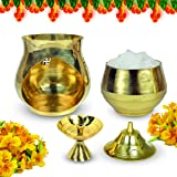 Reiki Crystal Products Vastu/Feng Shui Brass Aroma Incense Burner Camphor Lamp/Kapur Lamp/Magic Lamp/Oil Burner/Oil Diffuser with Diya