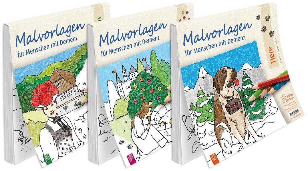 Paket Malvorlagen Für Menschen Mit Demenz Landschaften Märchen