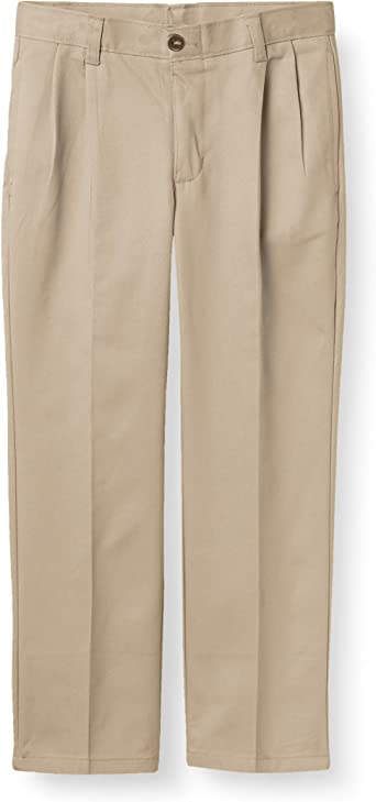 Chaps Boys School Uniform Pleated Twill Pant
