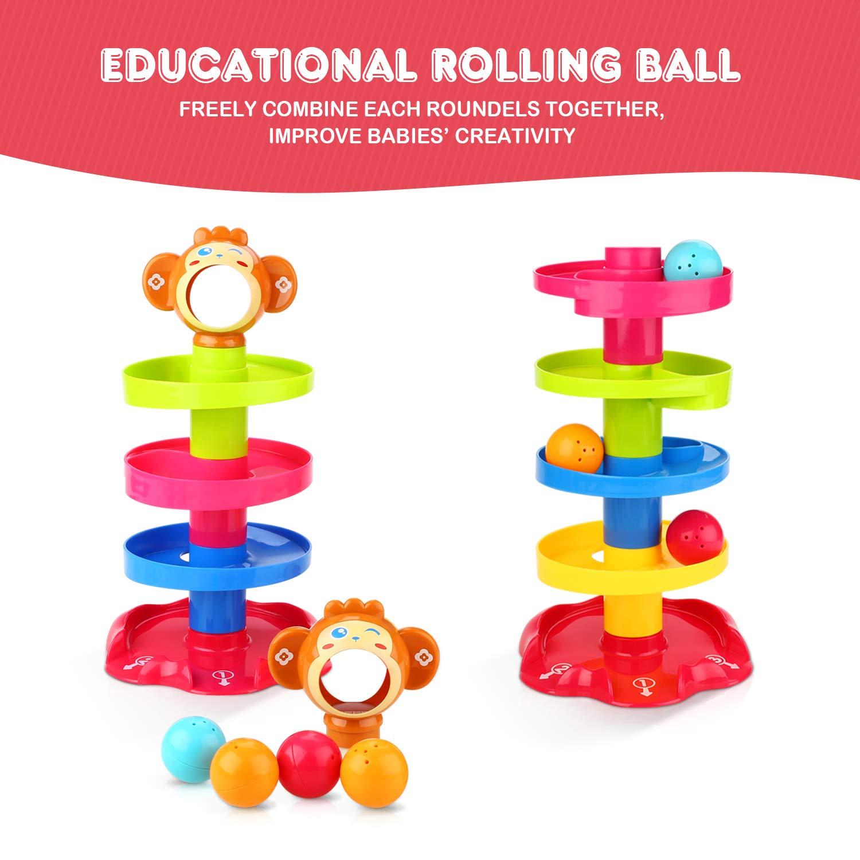 Peradix Piste per le biglie Rampa di Palla Torre Rotante Multistrato per Bimbi Giocattoli Educativi Adatto a bambini di età superiore a tre anni