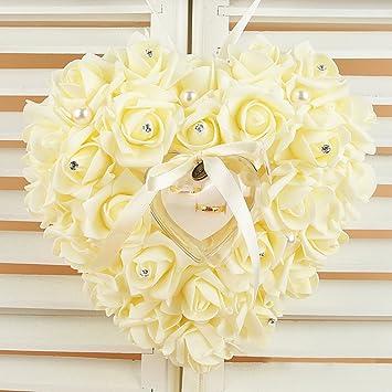 Almohada de anillo de boda, cojín de anillo de boda, caja de ...