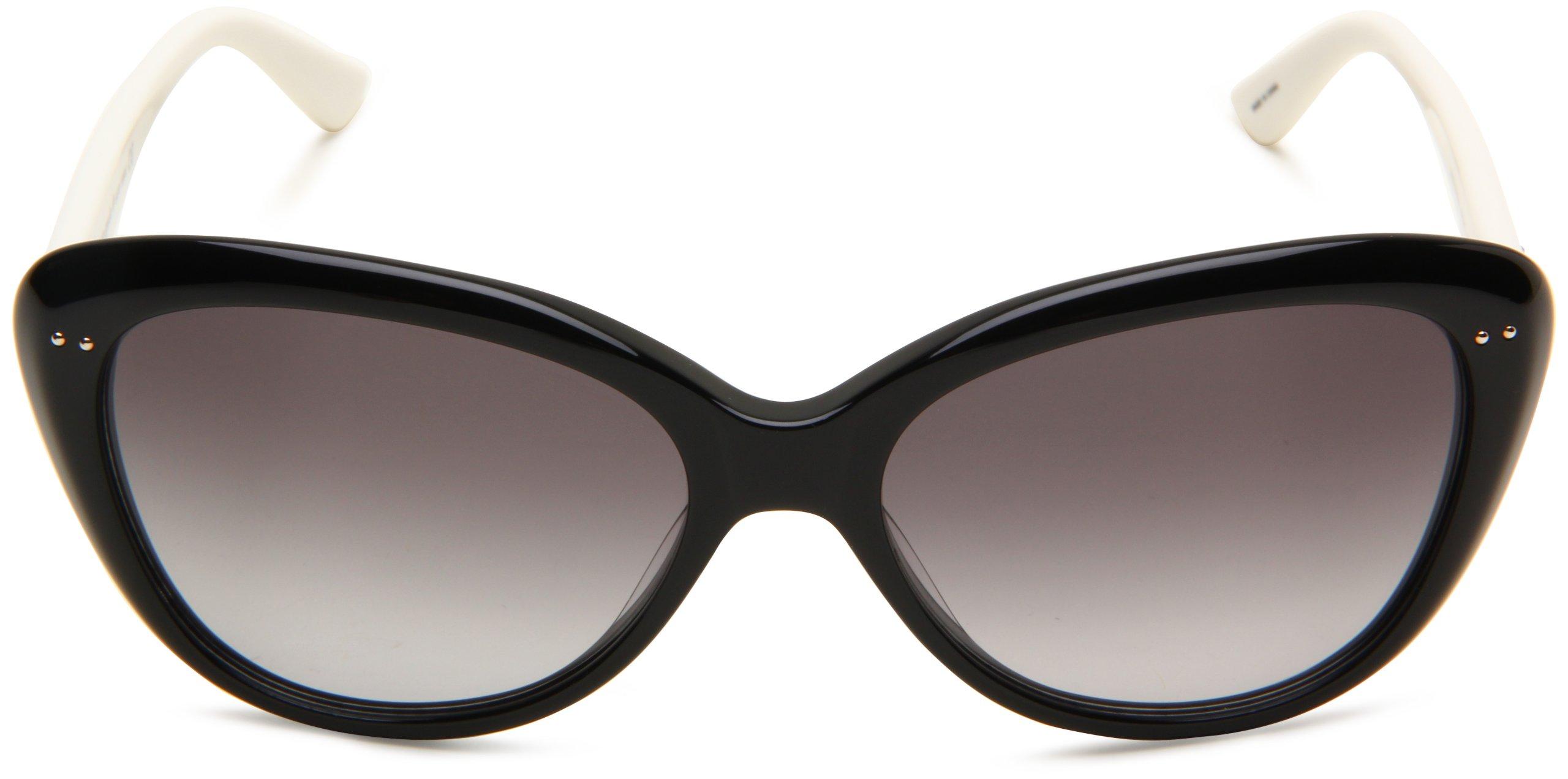 Kate Spade Women's ANGELIQS Cat Eye Sunglasses,Black & Cream Frame/Gray Gradient Lens,One Size by Kate Spade New York (Image #2)