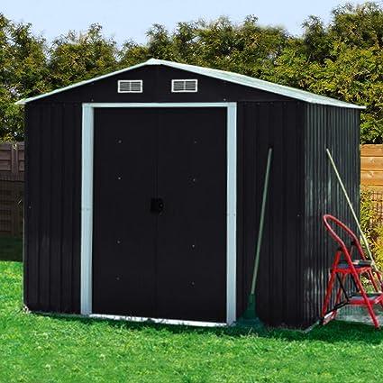 Casa de metal dispositivo 210 x 130 Jardín Caseta Invernadero Jardín Casa Caseta, antracita