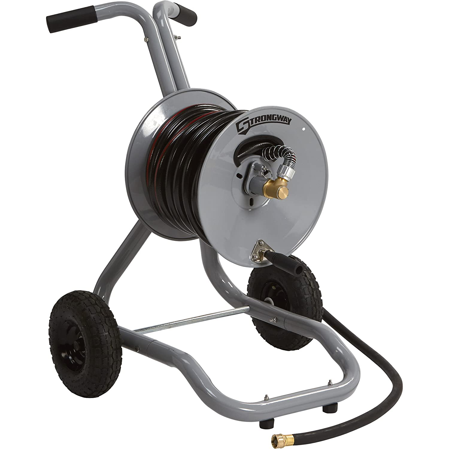 Amazon.com  Strongway Garden Hose Reel Cart - Holds 150ft. x 5/8in. Hose  Garden u0026 Outdoor  sc 1 st  Amazon.com & Amazon.com : Strongway Garden Hose Reel Cart - Holds 150ft. x 5/8in ...