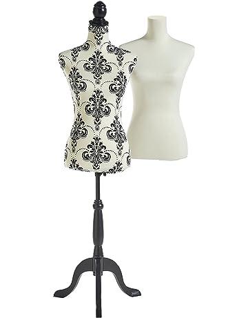 9291e6ea70a1d Beautify Mannequin Buste de Couture Femme Taille 36 38 avec 2 Revêtements  Blanc