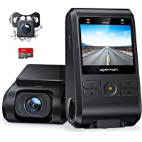 APEMAN Dash Cam, Front and Rear Camera for Cars FHD 1080P 170° Wide Angle Support GPS, Motion Detection, Night Vision, G…
