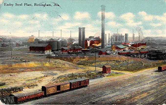 Amazon com: Birmingham Alabama Ensley Steel Plant Birds Eye