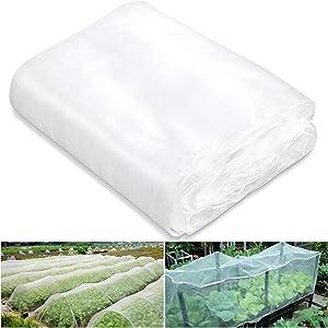 YGAOHF 8.2ft x 20ft Garden Screen Barrier Netting, Garden Mesh Netting, Bird Netting, Heavy Duty Plant Covers for Protect Your Vegetables, Fruits, Flower & Trees