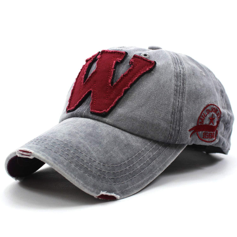 Amazon.com  Cotton Embroidery Letter W Baseball Cap Men Cap Hat Women  Sports Baseball Caps Outdoor Hat Custom Hat  Clothing 259522ecc99