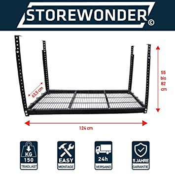 Regalsystem garage  Deckenregal Original STOREWONDER© Regal Garage Kellerregal Metall ...