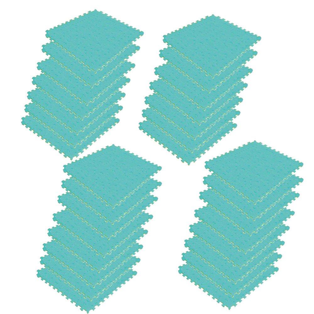 ボディメーカー(BODYMAKER) リバーシブルジョイントマット2.0 100×100×2cm イエロー×グリーン 30枚 B01DLXLN94