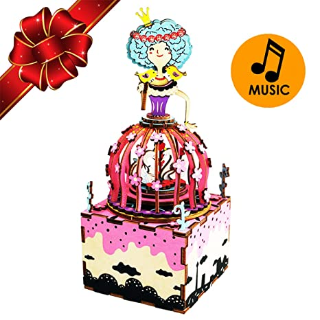 christmas sale princess musical box 3d puzzle craft toy top gift for kids