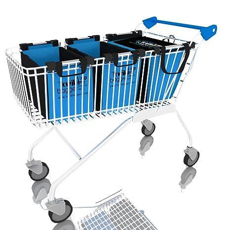 Carrito – Bolsas reutilizable Abarrotes Supermercado para bolsas de la compra – carrito de by kwikbagger
