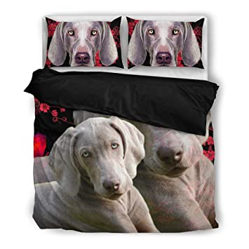 Amazing Weimaraner impresión juego de ropa de cama, diseño de perro los amantes regalos –
