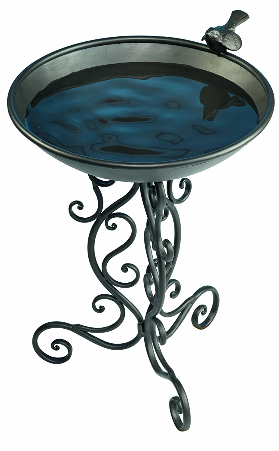 Ornate Metal Bird Bath Gardman USA BA01272