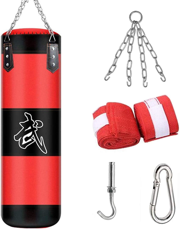 ALINILA Saco de Boxeo,Bolso Pesado De Boxeo Duradero,Saco De Arena Bolsa De Entrenamiento Vacío De Boxeo Gancho Kick Fight Karate Bolsa De Arena para Entrenar Ejercicio Físico Y Deportivo