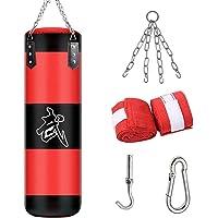 ALINILA Saco de Boxeo,Bolso De Boxeo Duradero,Saco De Arena Bolsa De Entrenamiento Vacío De Boxeo Gancho Kick Fight…