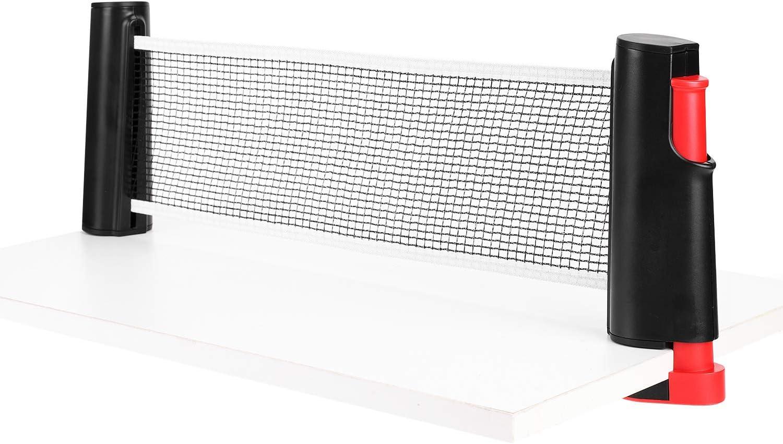 IBLUELOVER Ping Pong Red portátil de tenis de mesa retráctil, soporte de red ajustable, accesorios de repuesto de red, soporte deportivo para interior y exterior