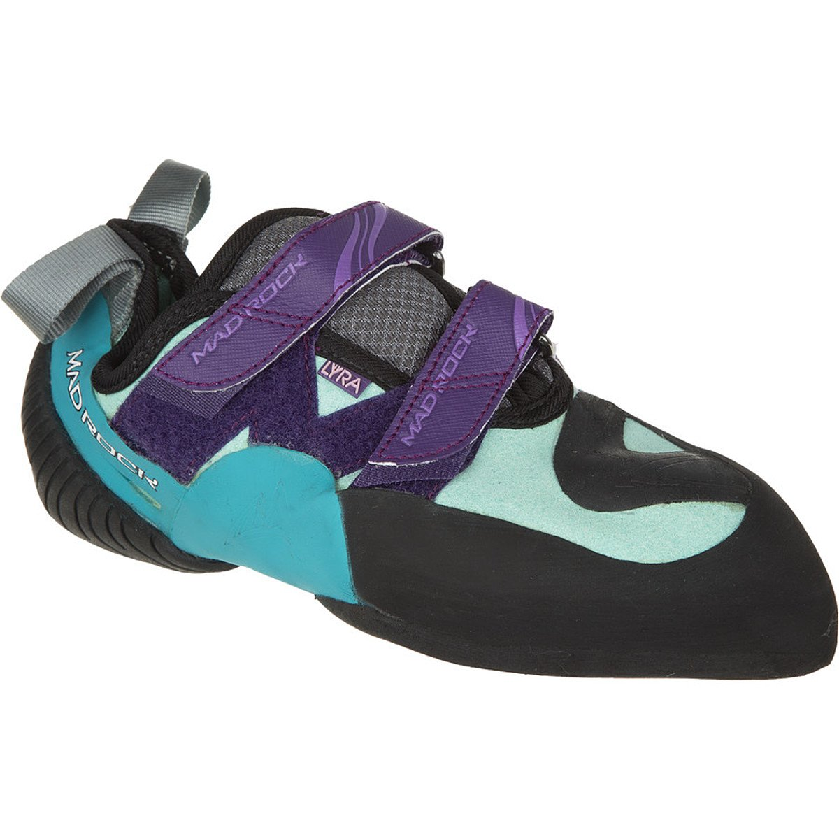 Mad Rock Lyra Climbing Shoes - Women's B00L8BVF5Y 4 D(M) US|Black/Purple/Turquiose