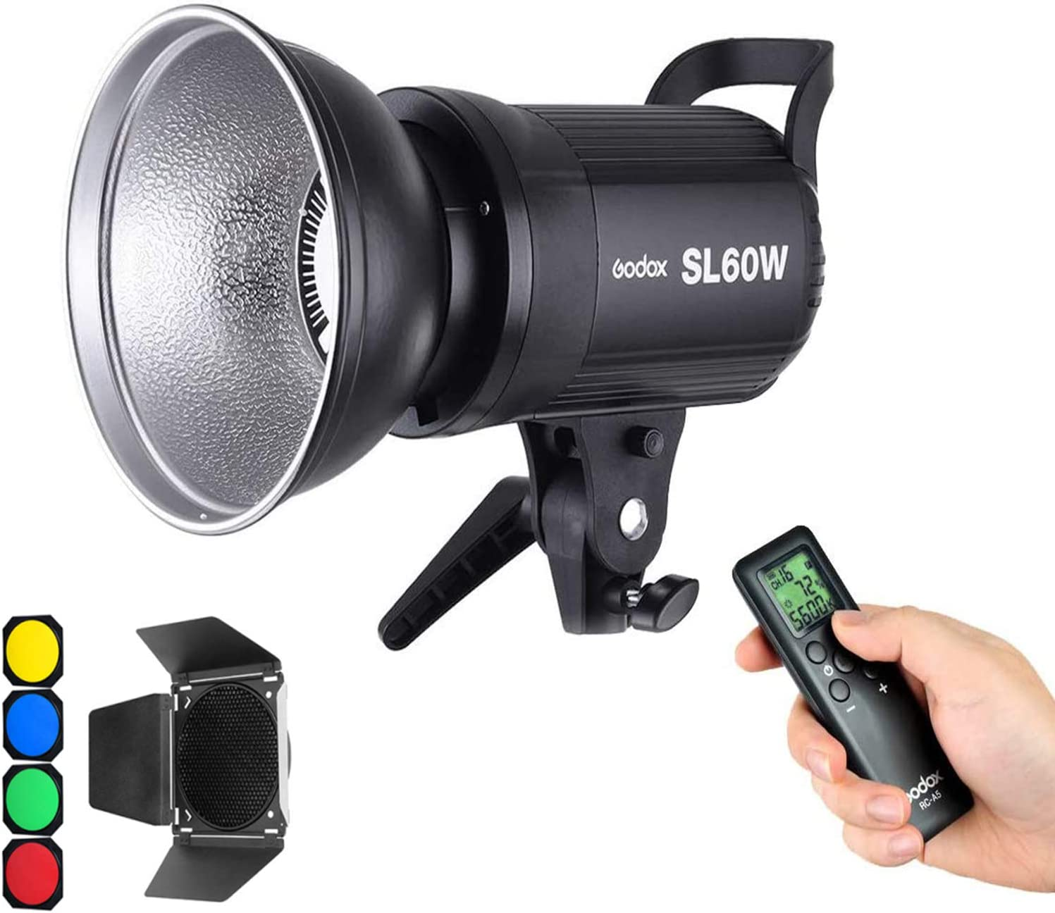 433MHz Grouping System Godox SL-60W Qa90 5600/±300K Bowens Mount Led Continuous Video Light,Wirelessly Adjust Brightness Upgrade Version LED Video Light,CRI95