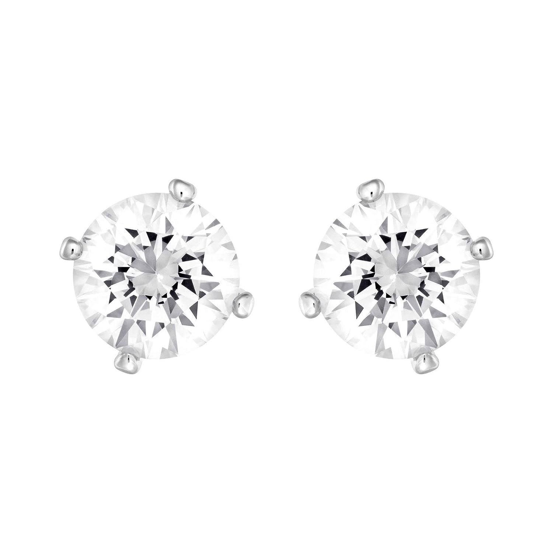 046b3ba97 Amazon.com: Swarovski Attract Pearl Rhodium Plated White Earrings: Jewelry