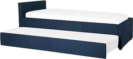 Beliani Cama Nido con somier Azul Oscuro 90x200 cm ...