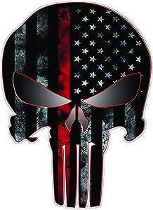 American Punisher First Responders Printed 5 Inch Sticker Decal Die Cut Sticker Graphic - Car Sticker Laptop Sticker