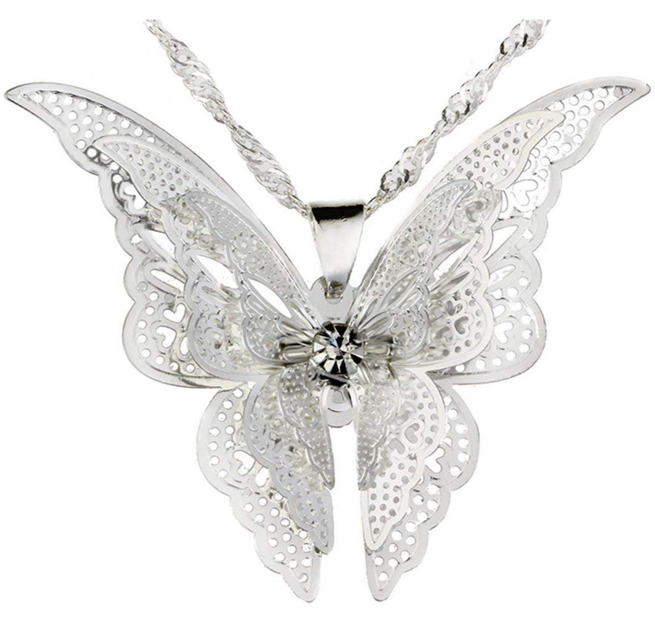 Sterling Silver Butterfly Pend...