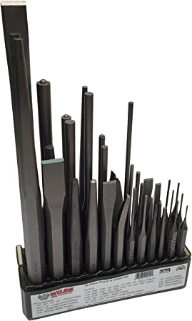 Wilde Tool 6pc Tapered Solid Drift Pin Punch Set 1//16-1//4in MADE IN USA