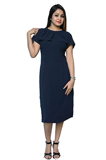 5d5eb6d5d Nice Queen Half Sleeve Dress On Knee Length Casual and Party Dress ...