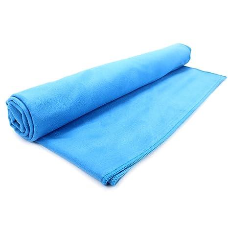 Bolsa de almacenamiento gratis con toallas medianas y grandes Negro Grande 90x180cm Maison /& White Toalla de microfibra de secado rapido