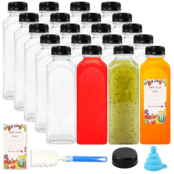 The Best Clear Food Grade Plastic Juice Bottles 16Oz