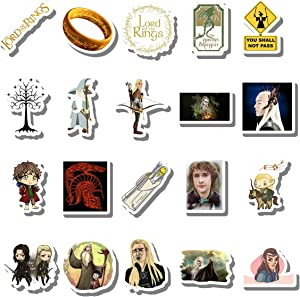 20 PCS Stickers Pack LOTR Aesthetic Vinyl Colorful Waterproof for Water Bottle Laptop Scrapbooking Luggage Guitar Skateboard