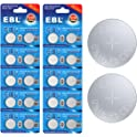20-Pack EBL LR44/AG13/G13A/A76/L1154 Button Cell Alkaline Battery
