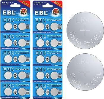 20-Pack EBL LR44/AG13/G13A/A76/L1154 Button Cell Alkaline Battery