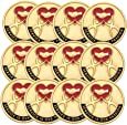 1 Inch Service is our Passion Lapel Pin, Package of 12, Poly Bagged