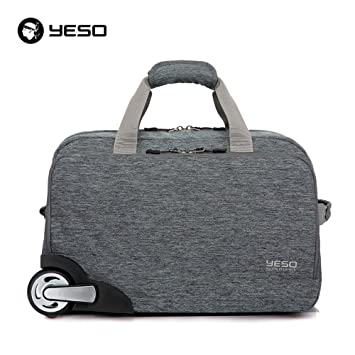 725dd661bfd6 YESO Trolley Travel Bag Hand Luggage 20inch 32L Rolling Duffle Bags  Waterproof Oxford Suitcase On Wheels