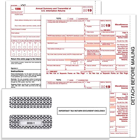 1099 form amazon  114 MISC Tax Forms for 114 14-Part Form Sets for 14 Vendors, 14X 14  Summary, and Confidential Envelopes (Filings for 14)