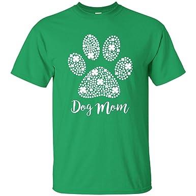 48f7f1e75 Irish Dog Mom Tshirt Dog Paw St Patricks Day Gifts for Mommy (Unisex T-