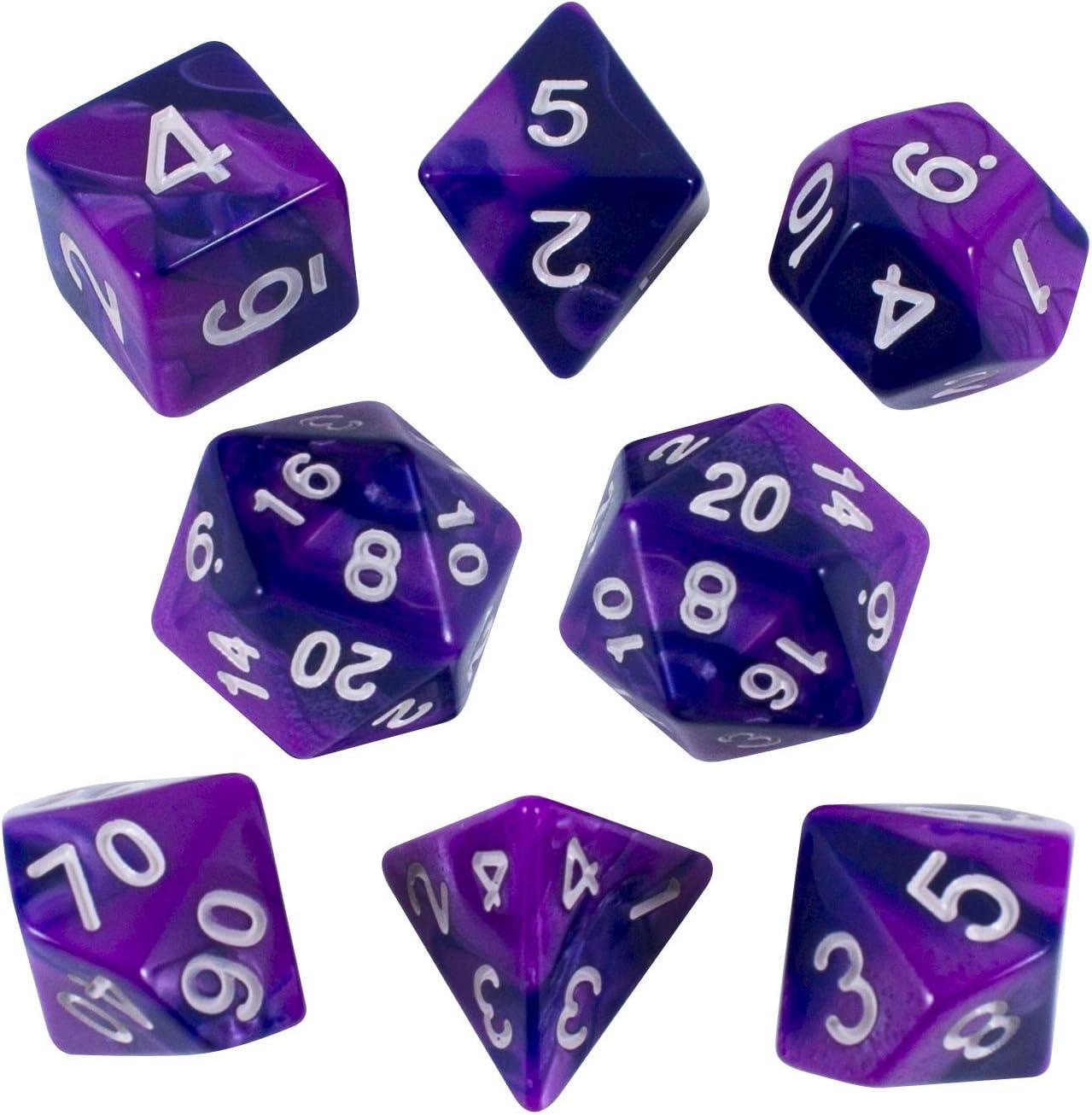 Paladin - Juego de dados para juegos de rol, color morado e índigo: Amazon.es: Juguetes y juegos