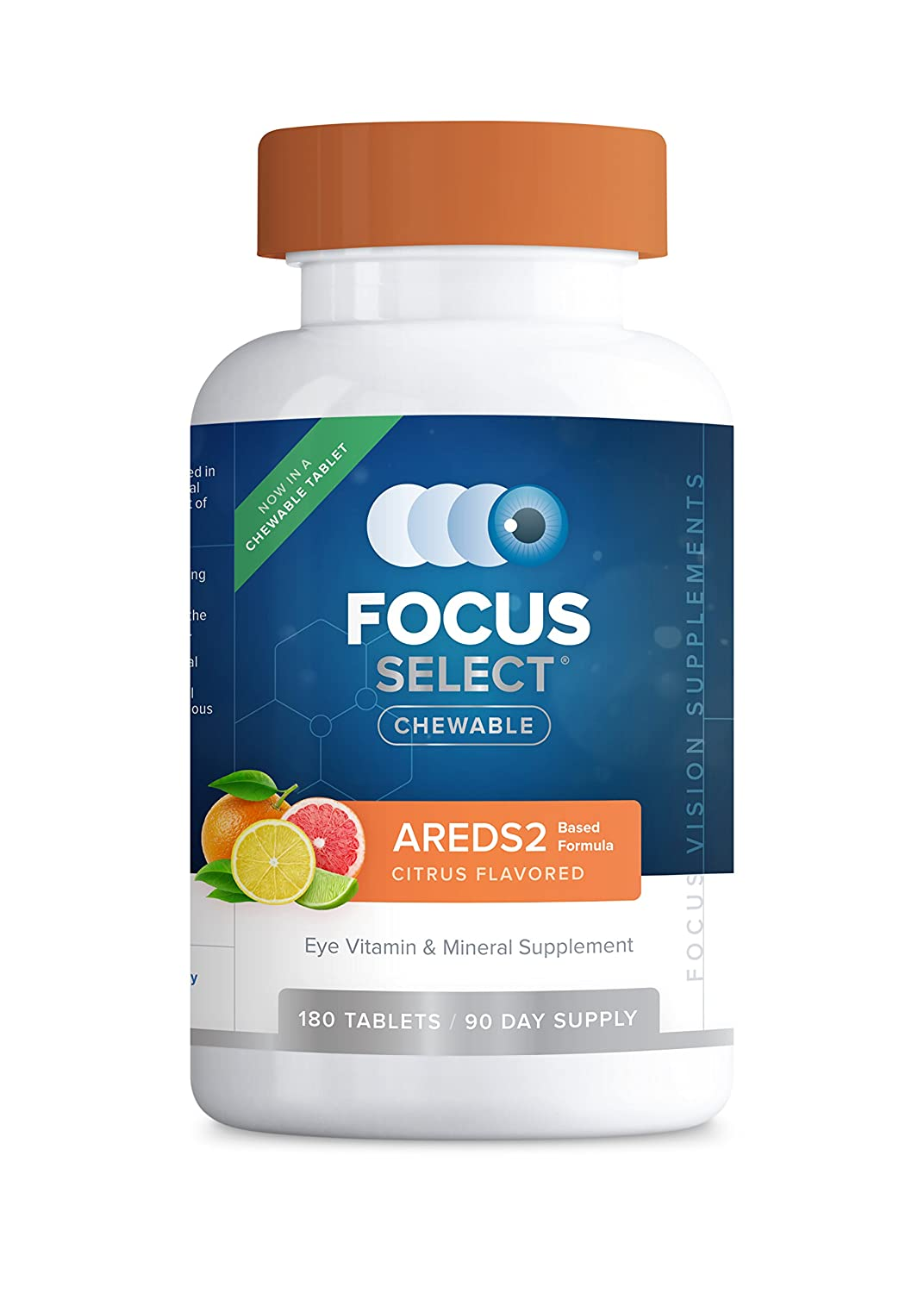 Focus Select AREDS2 Chewable Eye Vitamin-Mineral Supplement, 180 ct 90 Day