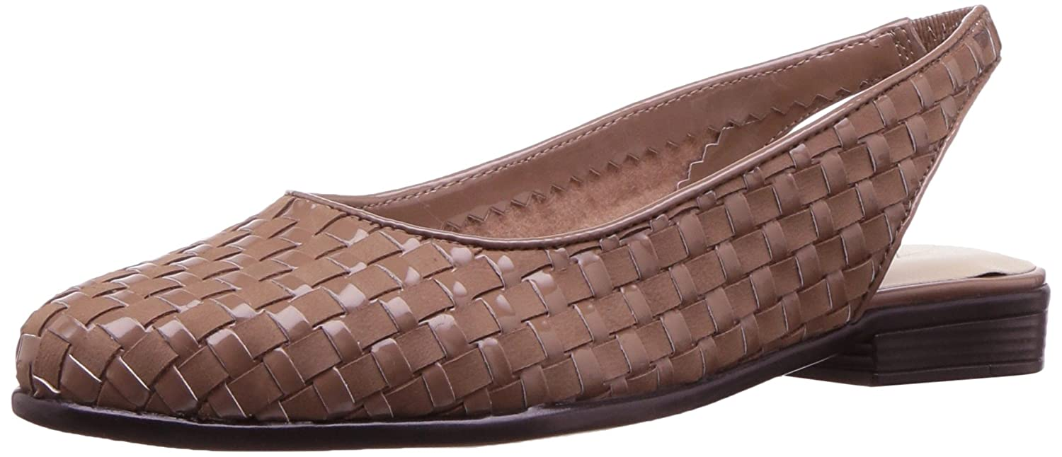 Trotters Women's Lucy Ballet Flat B01NCOQCQ6 8 W US|Nude